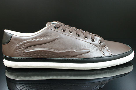 Lacoste Bocana 5 SRM LTH Dark Brown Black
