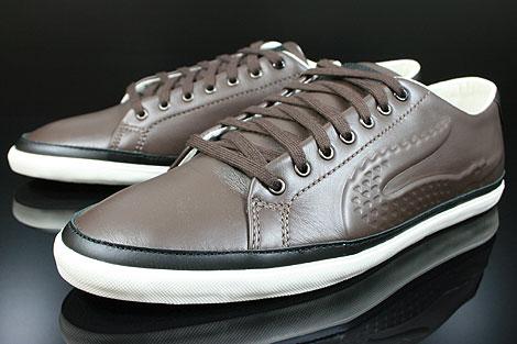 Lacoste Bocana 5 SRM LTH Dark Brown Black Sidedetails