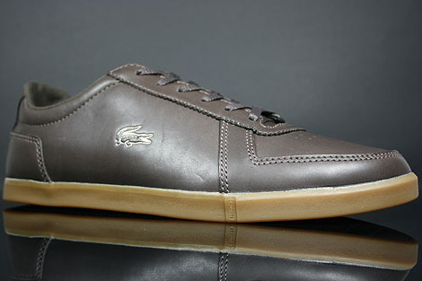 Lacoste Crosier 5 SRM Dark Brown Sidedetails