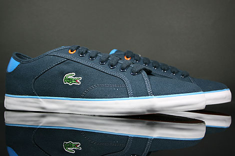 Lacoste Darton BP SPM Canvas Dark Blue White Sidedetails