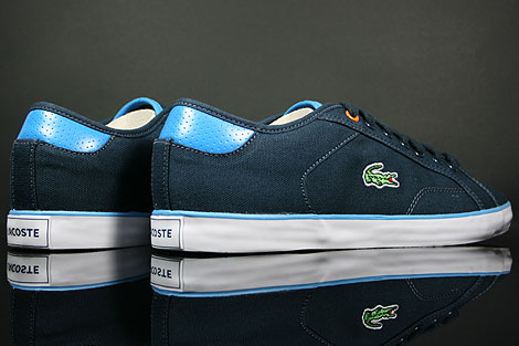 Lacoste Darton BP SPM Canvas Dark Blue White Back view
