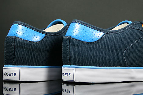 Lacoste Darton BP SPM Canvas Dark Blue White Over view