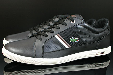 Lacoste Europa CI SPM LTH Black Dark Brown Profile