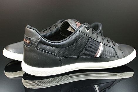 Lacoste Europa CI SPM LTH Black Dark Brown Inside