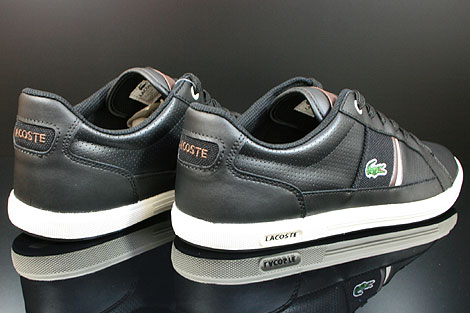 Lacoste Europa CI SPM LTH Black Dark Brown Back view
