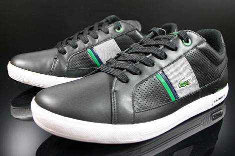 Lacoste Europa CRE SPM LTH Black Grey Sidedetails