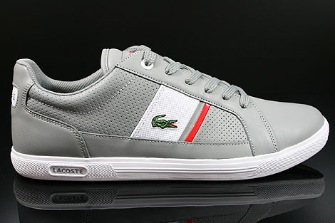 Lacoste Europa CRE SPM LTH Grey White Right