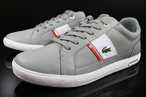 Lacoste Europa CRE SPM LTH Grey White Sidedetails