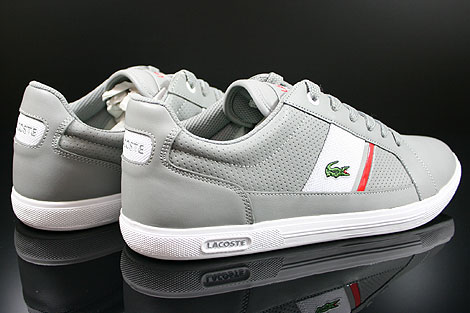 Lacoste Europa CRE SPM LTH Grey White Back view