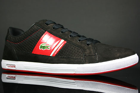 Lacoste Europa Lace NK SPM Black Red Sidedetails