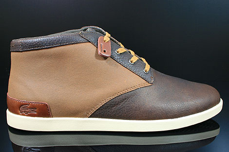 Lacoste Fairbrooke 11 SRM LTH Brown Tan Right