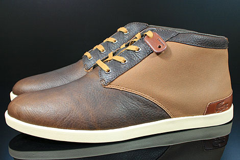 Lacoste Fairbrooke 11 SRM LTH Brown Tan Profile