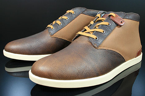 Lacoste Fairbrooke 11 SRM LTH Brown Tan Sidedetails