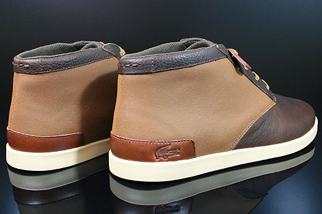Lacoste Fairbrooke 11 SRM LTH Brown Tan Back view