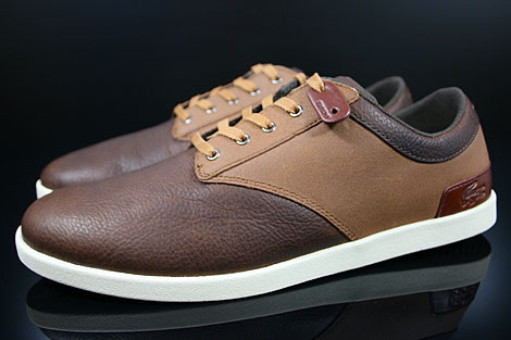 Lacoste Gilford 5 SRM LTH Brown Tan Profile