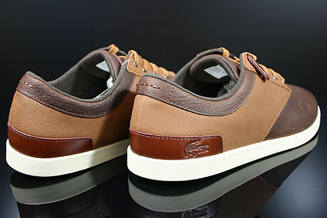 Lacoste Gilford 5 SRM LTH Brown Tan Back view