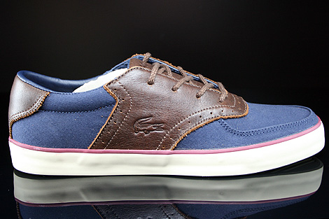 Lacoste Glendon Brogue SRM Dark Blue Dark Brown Right