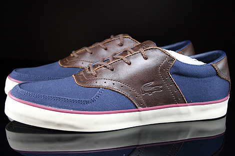 Lacoste Glendon Brogue SRM Dark Blue Dark Brown Profile