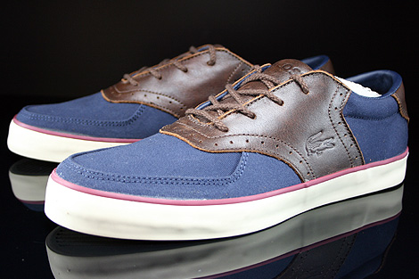Lacoste Glendon Brogue SRM Dark Blue Dark Brown Sidedetails
