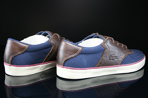 Lacoste Glendon Brogue SRM Dark Blue Dark Brown Back view
