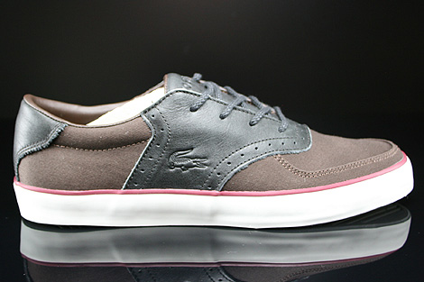 Lacoste Glendon Brogue SRM Dark Brown Black Right