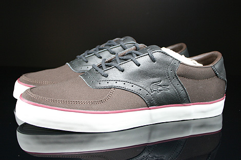 Lacoste Glendon Brogue SRM Dark Brown Black Profile