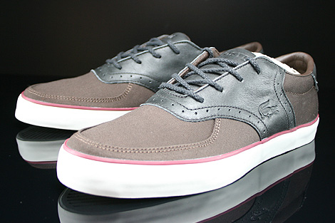 Lacoste Glendon Brogue SRM Dark Brown Black Sidedetails