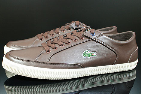 Lacoste Haneda CI SPM LTH Dark Brown Off White Profile