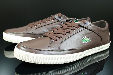 Lacoste Haneda CI SPM LTH Dark Brown Off White Sidedetails