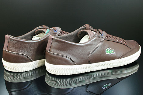 Lacoste Haneda CI SPM LTH Dark Brown Off White Back view