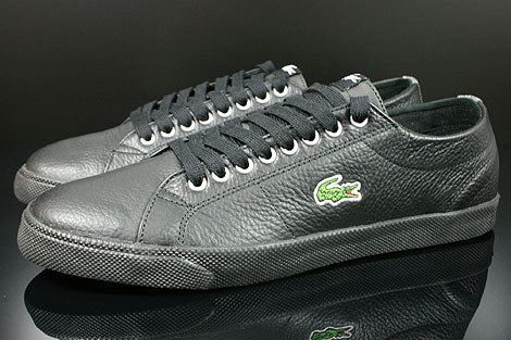 Lacoste Marcel CIW SPM LTH Black Dark Grey Profile