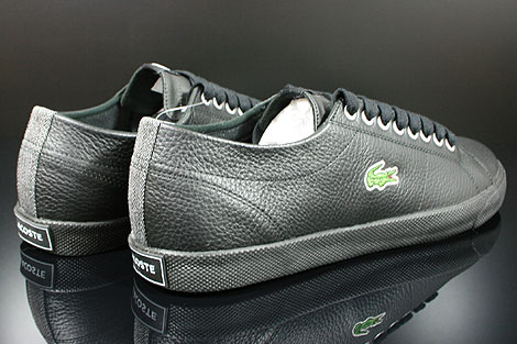Lacoste Marcel CIW SPM LTH Black Dark Grey Back view