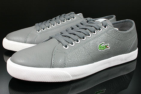 Lacoste Marcel CIW SPM LTH Dark Grey Light Grey Sidedetails