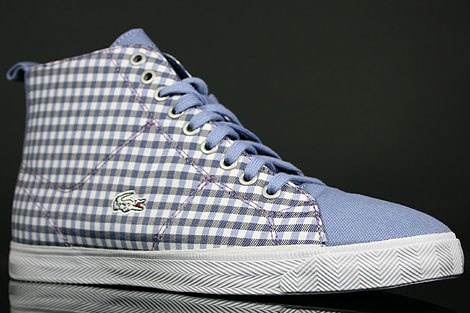 Lacoste Marcel Hi GMP SPW Blue White Sidedetails