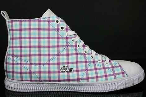 Lacoste Marcel Hi GMP SPW Weiss Lila Seitenansicht