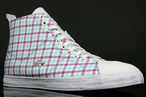 Lacoste Marcel Hi GMP SPW Weiss Lila Seitendetail