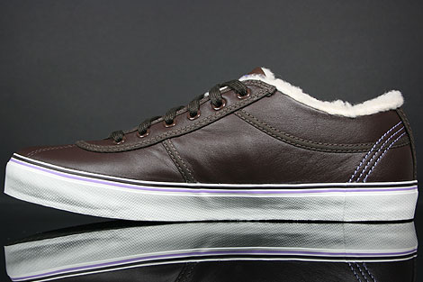 Lacoste Sahira Low Fur SPW LTH Dark Brown Off White Back view