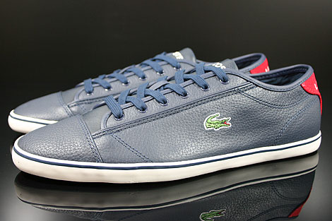 Lacoste Wyken CRE SPM LTH Dark Blue Red Profile
