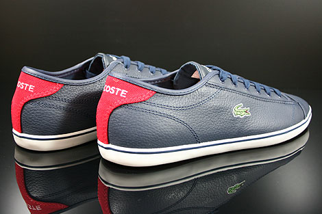 Lacoste Wyken CRE SPM LTH Dark Blue Red Back view