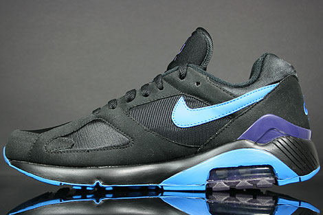 Nike Air 180 Black Photo Blue Ink Back view