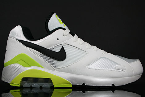 Nike Air 180 White Black Cyber Yellow