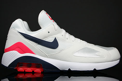 Nike Air 180 White Midnight Navy Silver Red