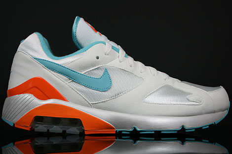 Nike Air 180 Weiss Aqua Orange