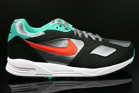 Nike Air Base 2 Cool Grey Team Orange Black Atomic Teal Right