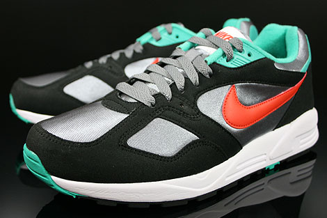 Nike Air Base 2 Grau Orange Schwarz Tuerkis Seitendetail