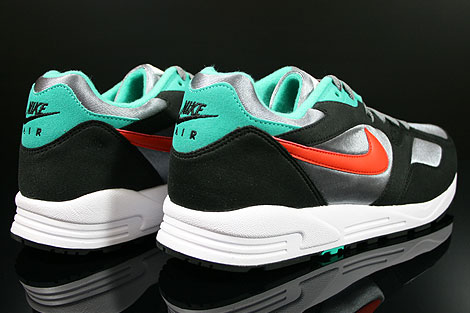 Nike Air Base 2 Cool Grey Team Orange Black Atomic Teal Back view