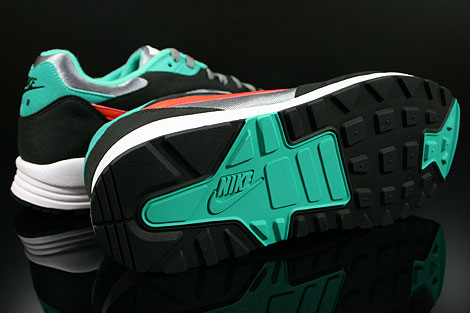 Nike Air Base 2 Cool Grey Team Orange Black Atomic Teal Outsole