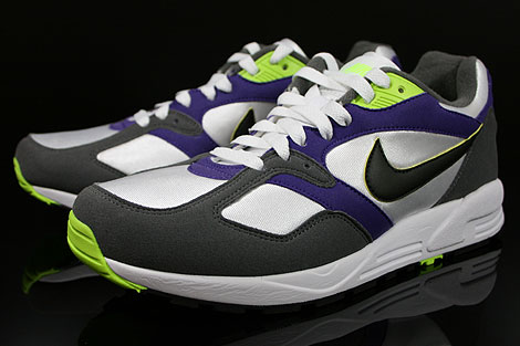 Nike Air Base 2 White Black Dark Grey Court Purple Sidedetails