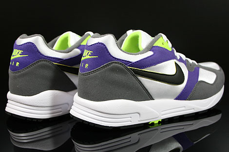 Nike Air Base 2 White Black Dark Grey Court Purple Back view