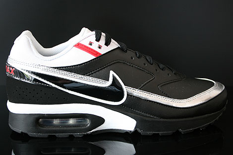 Nike Air Classic BW Schwarz Weiss Silber Rot